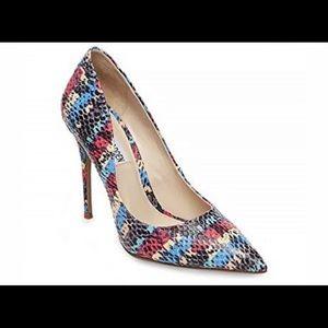 STEVE MADDEN daisie snakeskin stiletto heels